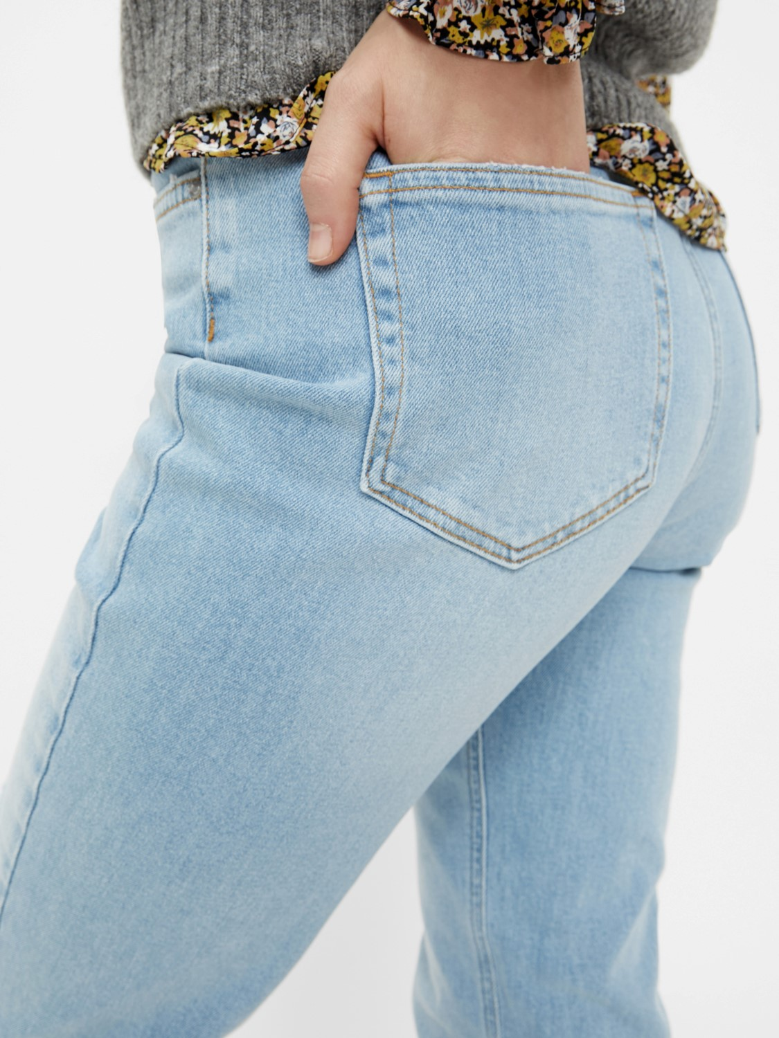 PIECES ANKLE HIGHWAIST 5 Pocket MOM Jeans Leah in 2 Farben